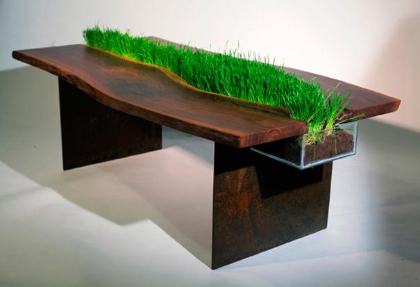 mesa de hierba para gato